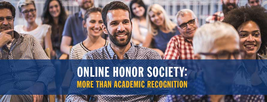 An honoree from NSLS, an online honor society.